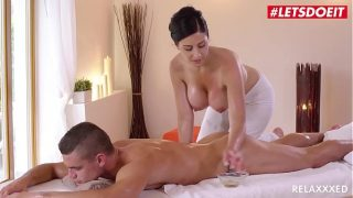 LETSDOEIT – Czech MILF Takes Young Big Cock On Hot Massage Sex (Alex Black & Max Dior)